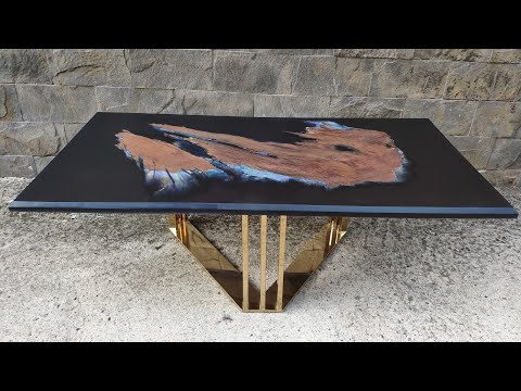 Black Pearl epoxy table – Woodworking projects – Resin art