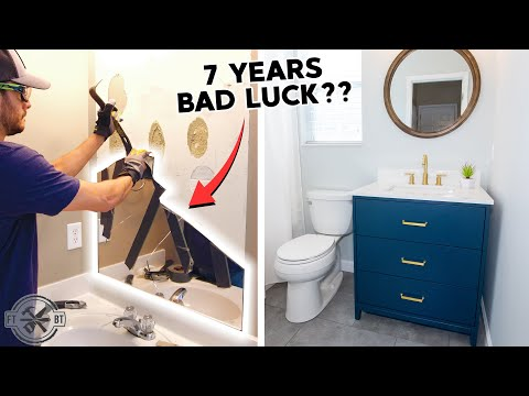 Mistakes Were Made… DIY Small Bathroom Makeover