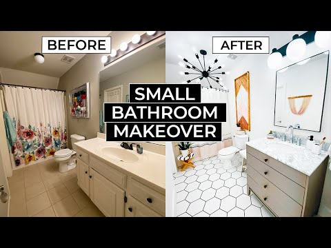 Extreme Small Bathroom Makeover – Liz Fenwick DIY