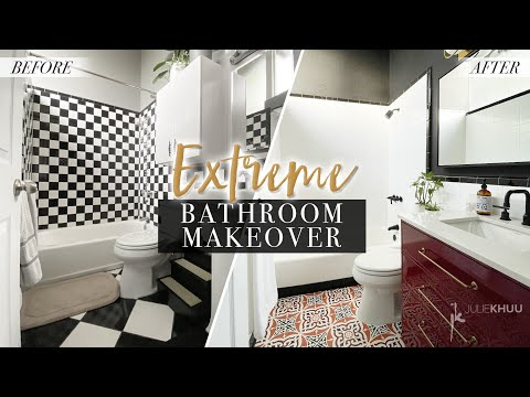 EXTREME BATHROOM MAKEOVER | DIY Renovation | Julie Khuu