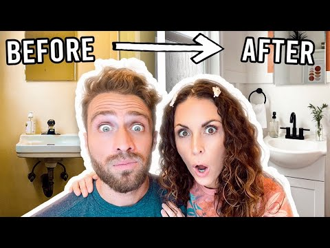 EXTREME SMALL BATHROOM MAKEOVER! Under $300 Transformation