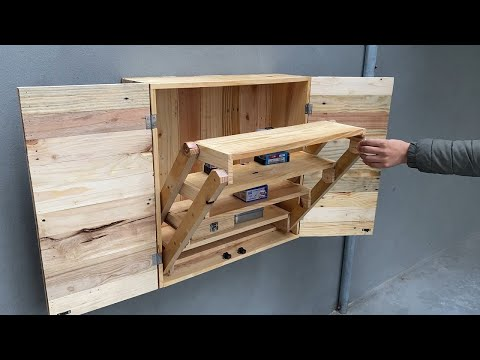 Creative And Unique Woodworking Projects // Build A CabinetThat Combines A Very Smart Folding Table