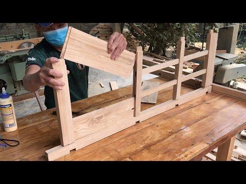 Weekend woodworking idea // DIY Shelf Kitchen Microwave Rack Multi layer Multi function…
