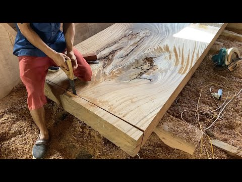 Amazing The World's Best Craftsman Carpenters // Woodworking Projects Monolithic Outdoor Tables