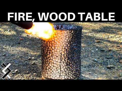 Shou Sugi Ban Sculpted Table – Woodworking Projects –