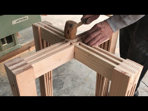 Amazing Simple Woodworking Idea // DIY Unbelievably Beautiful Outdoor Coffee Table…