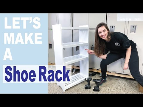 Making a DIY Shoe Rack (An Easy Woodworking Project)