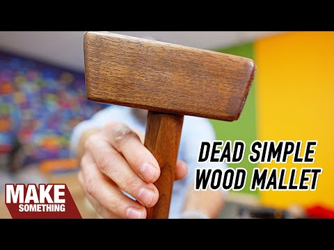 How to make a simple wood mallet. Easy woodworking project.