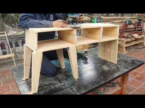 Creative And Unique Woodworking Projects // Build A CabinetThat Combines A Very Smart Folding Chair