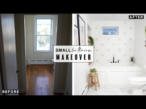 DIY SMALL BATHROOM MAKEOVER!! EXTREME TRANSFORMATION!!