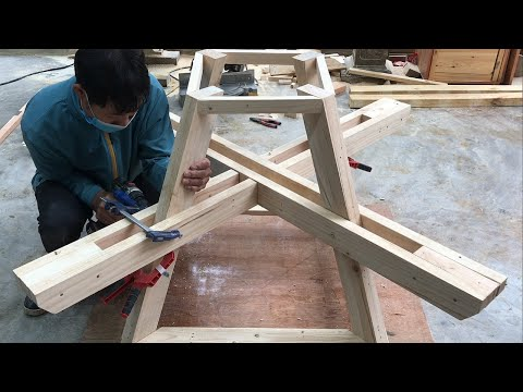 Amazing Two In One Woodworking Project // DIY Outdoor Coffee Tables And Chairs From Easy Pallets.