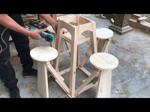 Woodworking Project From Extremely Smart Pallets // How To Build Tables And Chairs For Small Spaces.