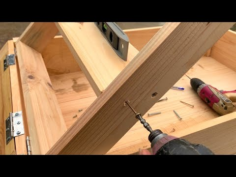 Unique And Creative Woodworking Project // The idea Of a Folding Ladder Combined With a Desk