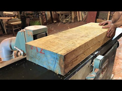 Extremely Ingenious Skills Woodworking Worker // Working with Curved Monolithic Hardwood Projects