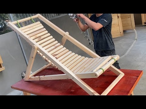 Most Profitable Woodworking Projects You Can Build // Build An Adjustable  Folding Swing Lounger Set