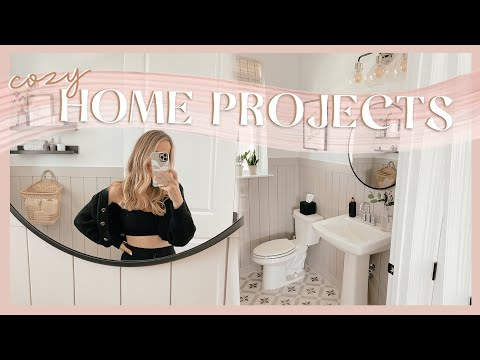 HOME PROJECT DAY | powder bathroom makeover! 🏡✨