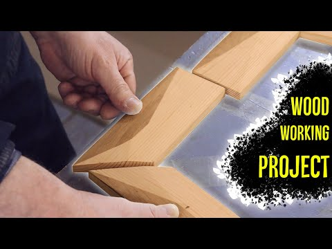 Amazing Design Furniture Woodworking Projects Skill. Build 54 Pieces Wood Mirror Shelf Without Nails