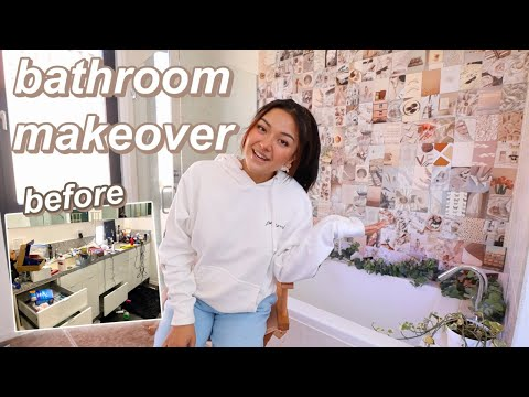 EXTREME bathroom makeover in 24 HOURS | moving to LA at 18