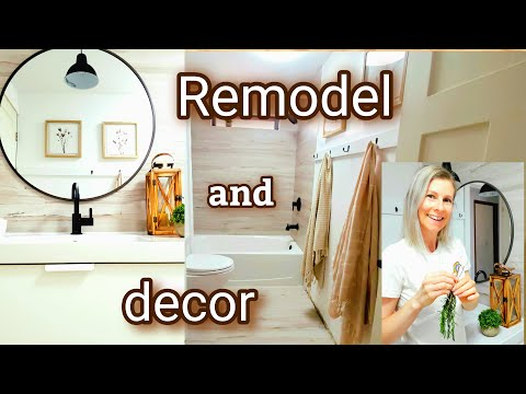 BATHROOM REVEAL- HOUSE REMODEL AND DECORATING – BATHROOM REMODEL AND DECOR DIY BATHROOM