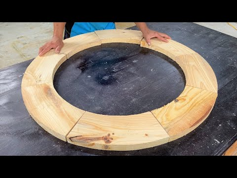 Amazing Woodworking Projects // Ideas Design Circular Coffee Table Very Creative And Easy
