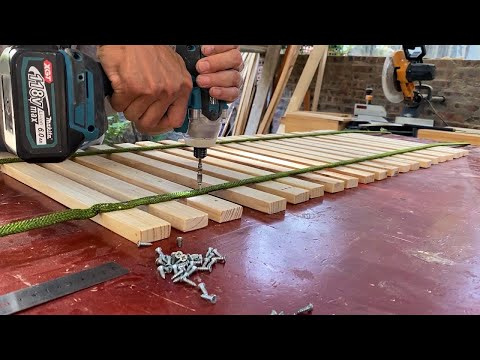 Amazing Woodworking Projects Anyone Can Do At Home // Build Foldable Relaxation Chair When Moving