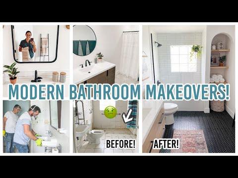 TWO MODERN BATHROOM MAKEOVERS! | FLIP HOUSE RENOVATION | Lynette Yoder