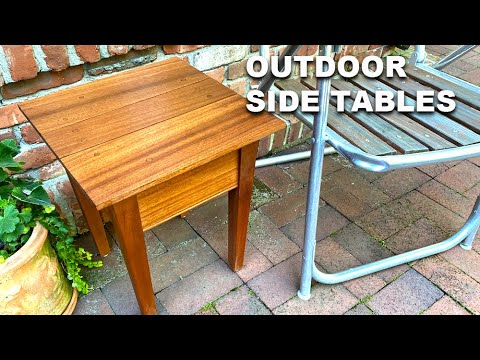 How to Make Outdoor side Tables – Beginner Woodworking Project