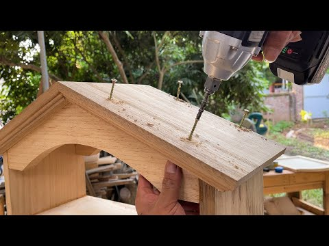 Great Ideas Woodworking Projects DIY // Modern Wooden Household Medicine Cabinet Design