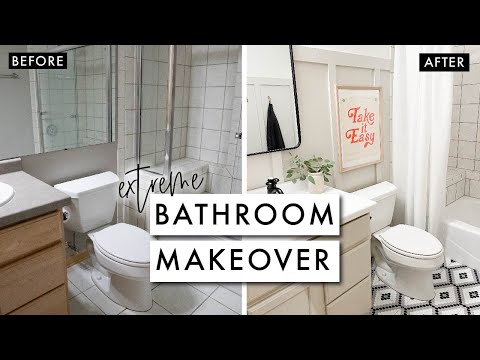 EXTREME BATHROOM MAKEOVER on a Budget | By Sophia Lee