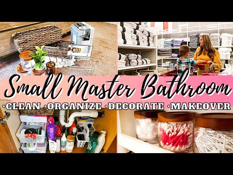 2021 EXTREME CLEAN AND DECORATE | SMALL BATHROOM ORGANIZATION | MOBILE HOME BATHROOM MAKEOVER