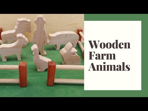 Wooden Farm Animals – Easy DIY Woodworking Project – Scroll saw project