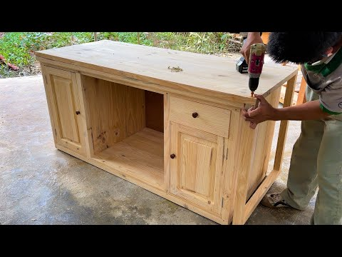 Woodworking Project Office Furniture Ideas | Build a Desk With a Unique, Smart & Space Saving Design