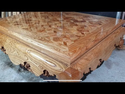 Woodworking Projects Not For Newbies // How To Build A Giant Carpenter's Coffee Table