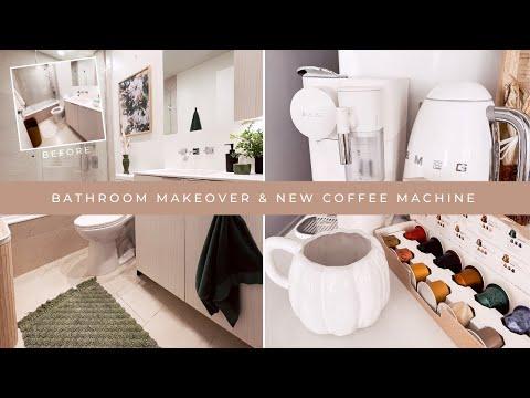 Cute Bathroom Makeover & NEW coffee machine   WEEKLY VLOG