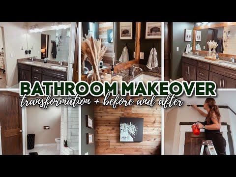 BATHROOM MAKEOVER TRANSFORMATION + before & after