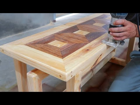 Amazing Woodworking Projects // Build An Outdoor Art Bench With A Unique Design For Your Home
