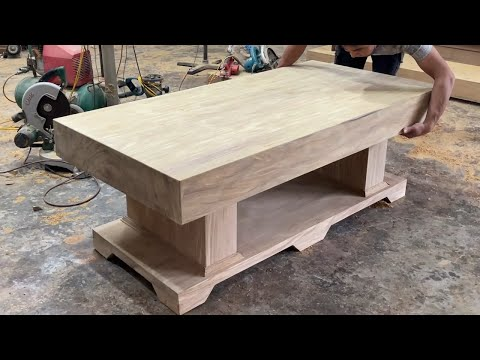 Woodworking Project Heavy Carpentry Work – Build A Extremely Large Table Out Solid And Rare Hardwood